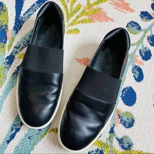 Vince Black Corbin Elastic Slip on Sneakers